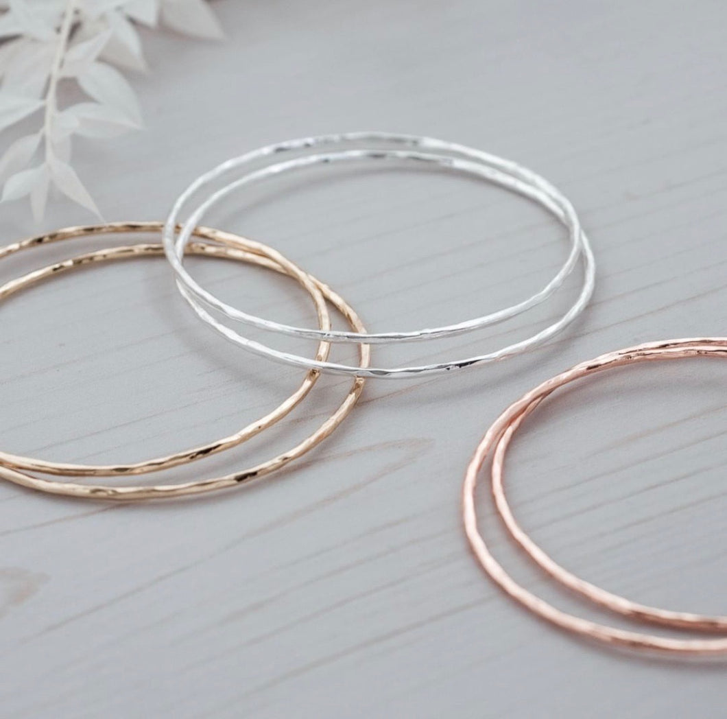Delicate Stacked Bangles - Sublime Clothing Boutique