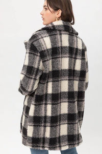 Love You Sheerly Plaid coat - Sublime Clothing Boutique