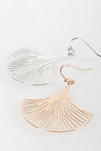 Laser Cut Flower Hook Earrings