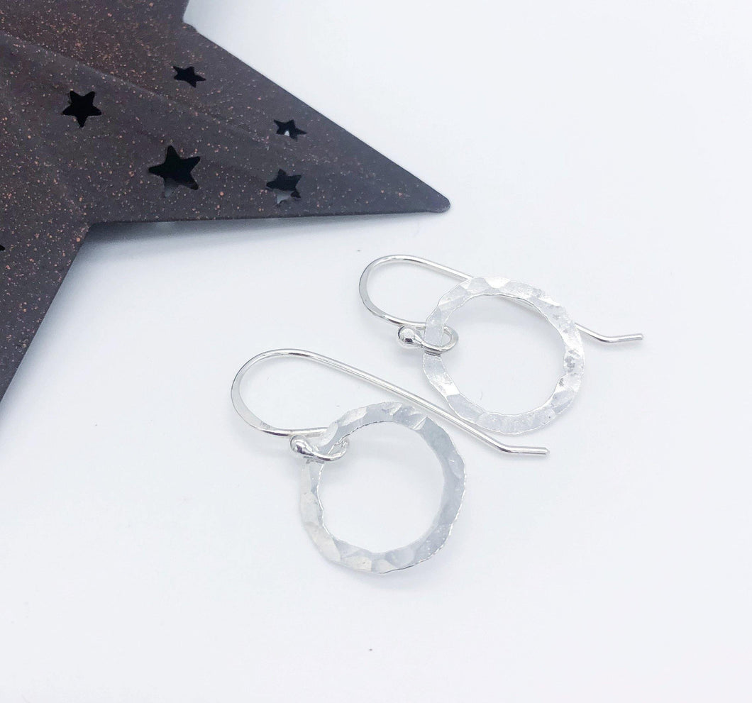 Twisted Designs Little Organic Circle Earrings