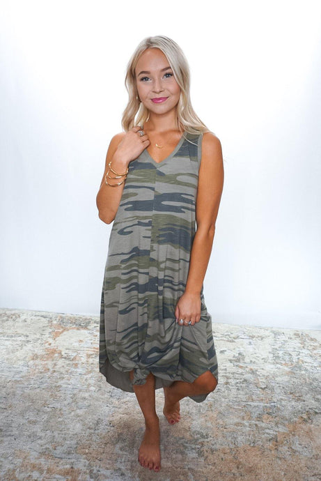 Camo Reverie Dress - Sublime Clothing Boutique