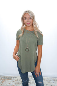 Maggie Side Slit Tee - Sublime Clothing Boutique
