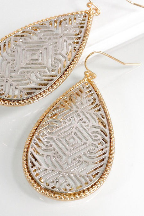 Moroccan Tile Tear Drop Earring - Sublime Clothing Boutique