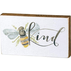 Bee Kind Block Sign - Sublime Clothing Boutique