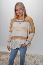 Load image into Gallery viewer, Tess Stripe Sweater - Sublime Clothing Boutique