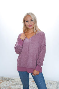 Subtle Drama V Neck - Sublime Clothing Boutique