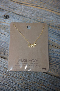 Triple Star Necklace - Sublime Clothing Boutique
