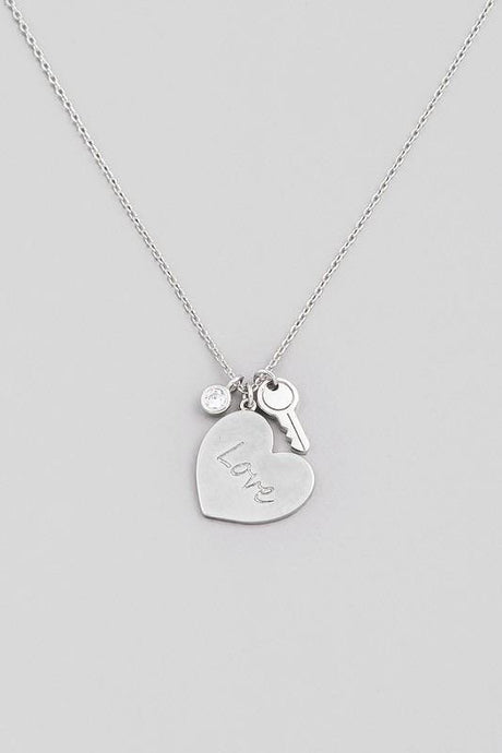 Triple Love Charm Pendant Necklace