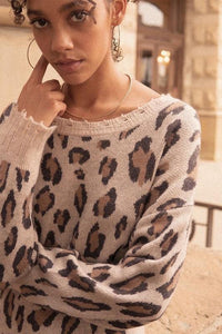 Roam Free Leopard Sweater - Sublime Clothing Boutique