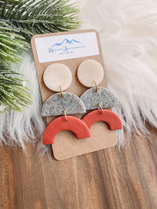 Perfect Trio Clay Earrings