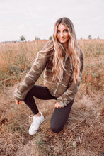 Load image into Gallery viewer, Camo Crop Sherpa Jacket - Sublime Clothing Boutique