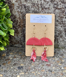 Bandana Me Knot Clay Earring - Sublime Clothing Boutique