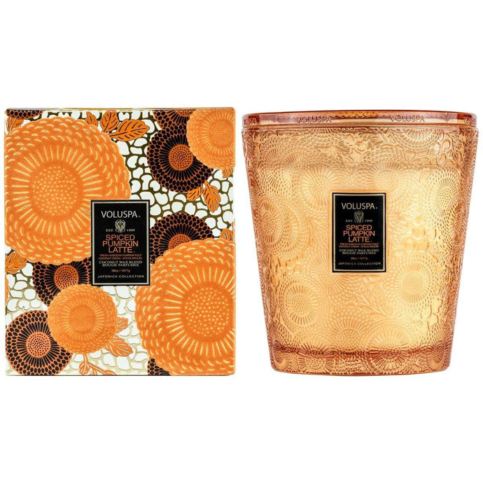 Voluspa Spiced Pumpkin Latte 3 Wick Hearth Candle - Sublime Clothing Boutique