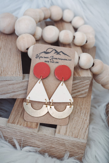 Color Pop Minimalist Clay Earrings