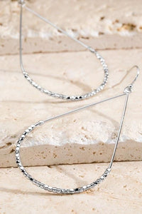 Simple Bling Teardrop Hoop - Sublime Clothing Boutique