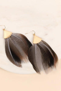 Feathered Triangle Earring - Sublime Clothing Boutique