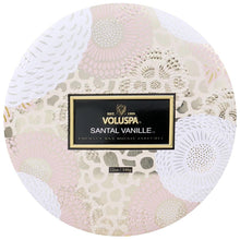 Load image into Gallery viewer, Voluspa Santal Vanille 3 Wick Tin Candle - Sublime Clothing Boutique