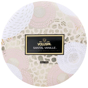 Voluspa Santal Vanille 3 Wick Tin Candle