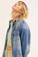 Load image into Gallery viewer, Free People Moonchild Denim Jacket