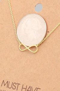 Infinity Pendant Necklace - Sublime Clothing Boutique