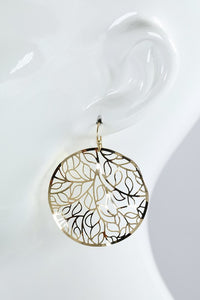 Metal Filigree Circle Earring