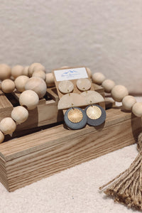 Neutral Boho Clay Earrings