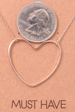 Load image into Gallery viewer, Heart Cutout Pendant Necklace - Sublime Clothing Boutique