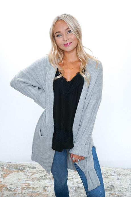Soft Side Ribbed Cardigan