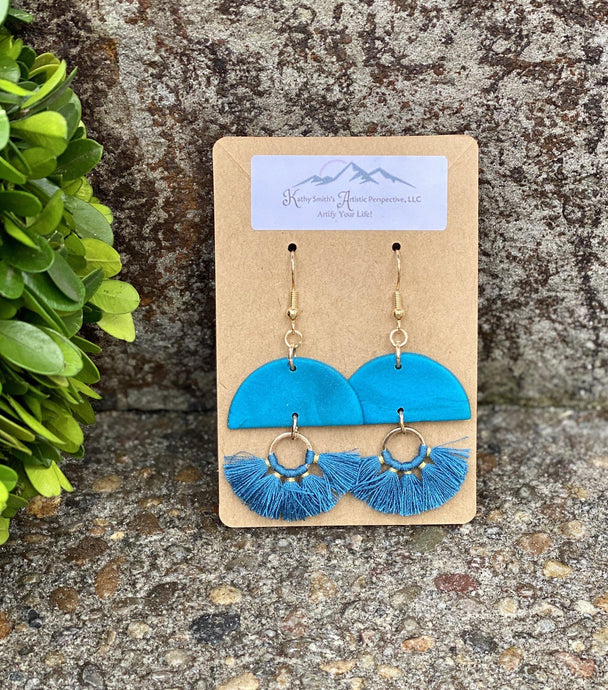 Ocean Splash Fringe Clay Earring
