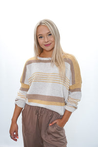 Tess Stripe Sweater - Sublime Clothing Boutique