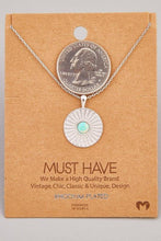 Load image into Gallery viewer, Opal Stud Circle Pendant Necklace