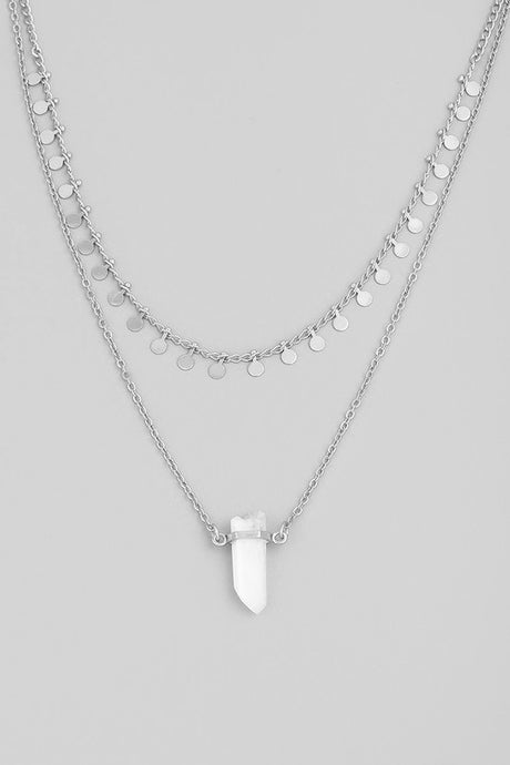 Crystal Layered Necklace