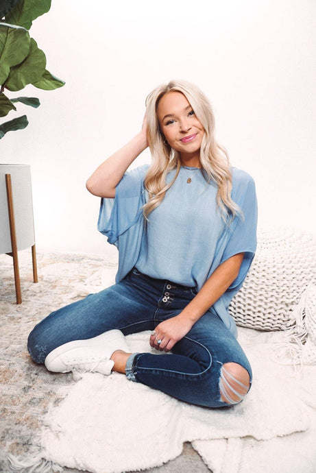 Easy Days Short Sleeve Dolman Top - Sublime Clothing Boutique
