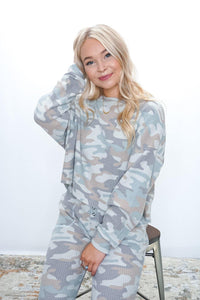 Celine Camo Long Sleeve - Sublime Clothing Boutique