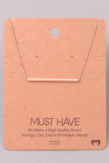 Thin Cylinder Necklace