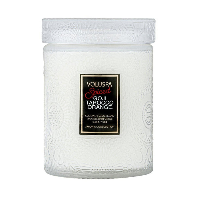 Voluspa Spiced Goji Tarocco Orange Small Jar Candle - Sublime Clothing Boutique