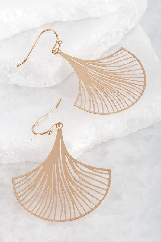 Laser Cut Flower Hook Earrings - Sublime Clothing Boutique