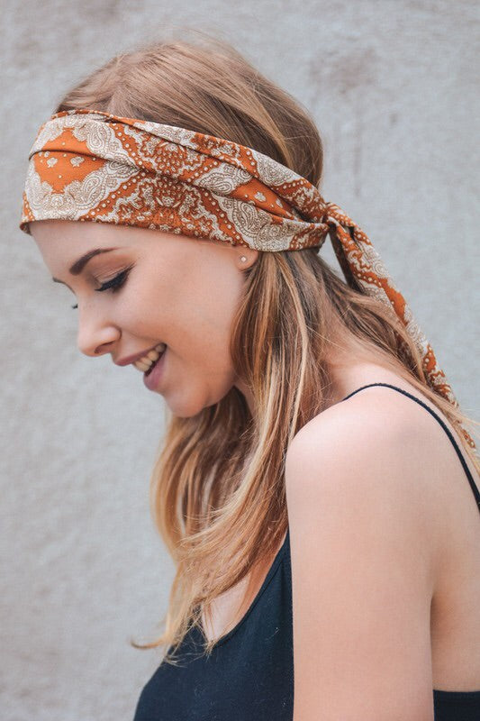 Tasteful Terracotta Satin Scarf