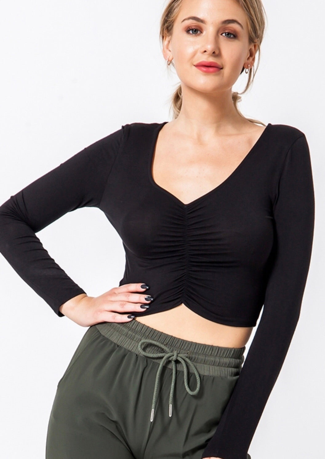 Emma Ruched Top - Sublime Clothing Boutique