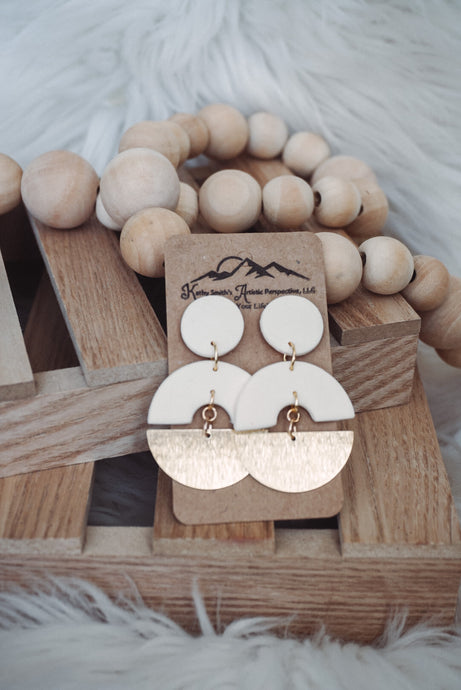 Minimal Moment Clay Earrings