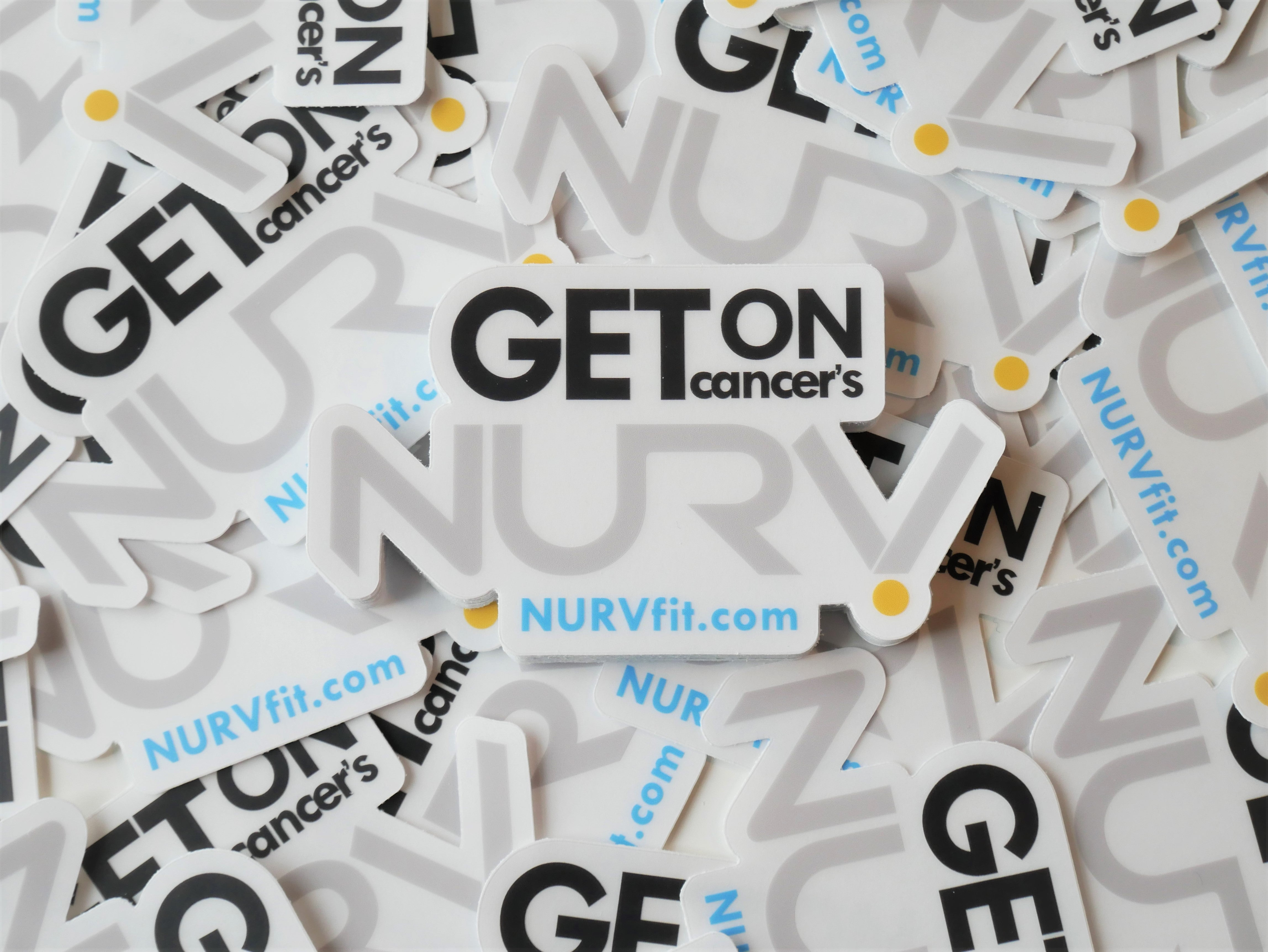 Get on Cancers NURV | Clear Sticker