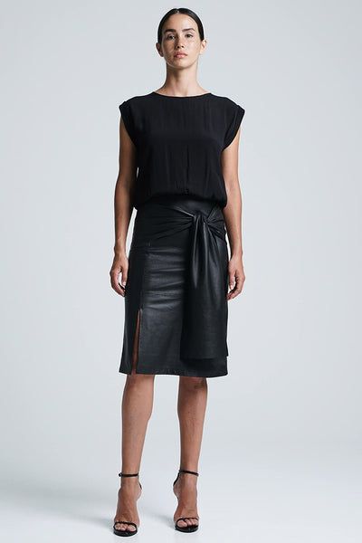BELLA BOW SKIRT BLACK