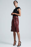 Bella Bow Midi Skirt Merlot