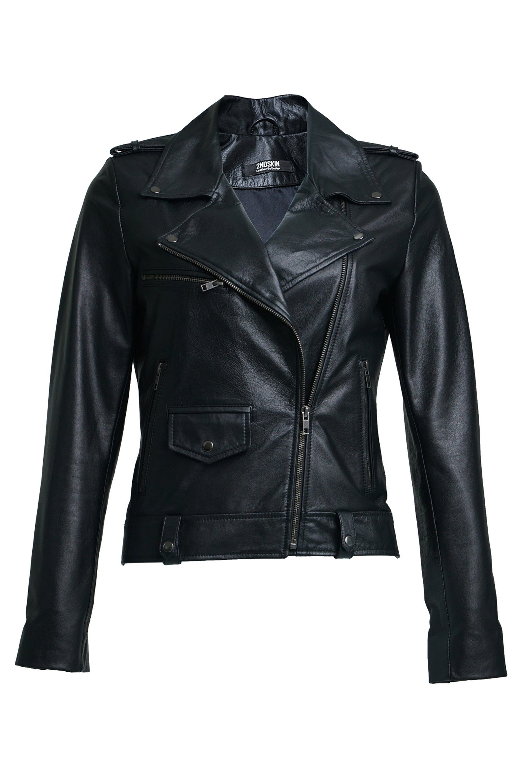 Harper Moto Jacket Black Gun Metal
