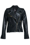 Harper Moto Jacket Black with Gold
