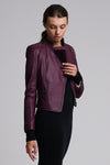 Sophia Combo Jacket Grape