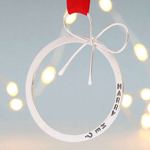 Marry me hanging decoration