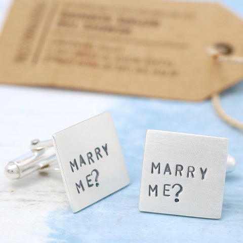 Will you marry me cufflinks
