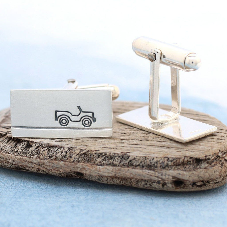 Sterling Silver Car Cufflinks