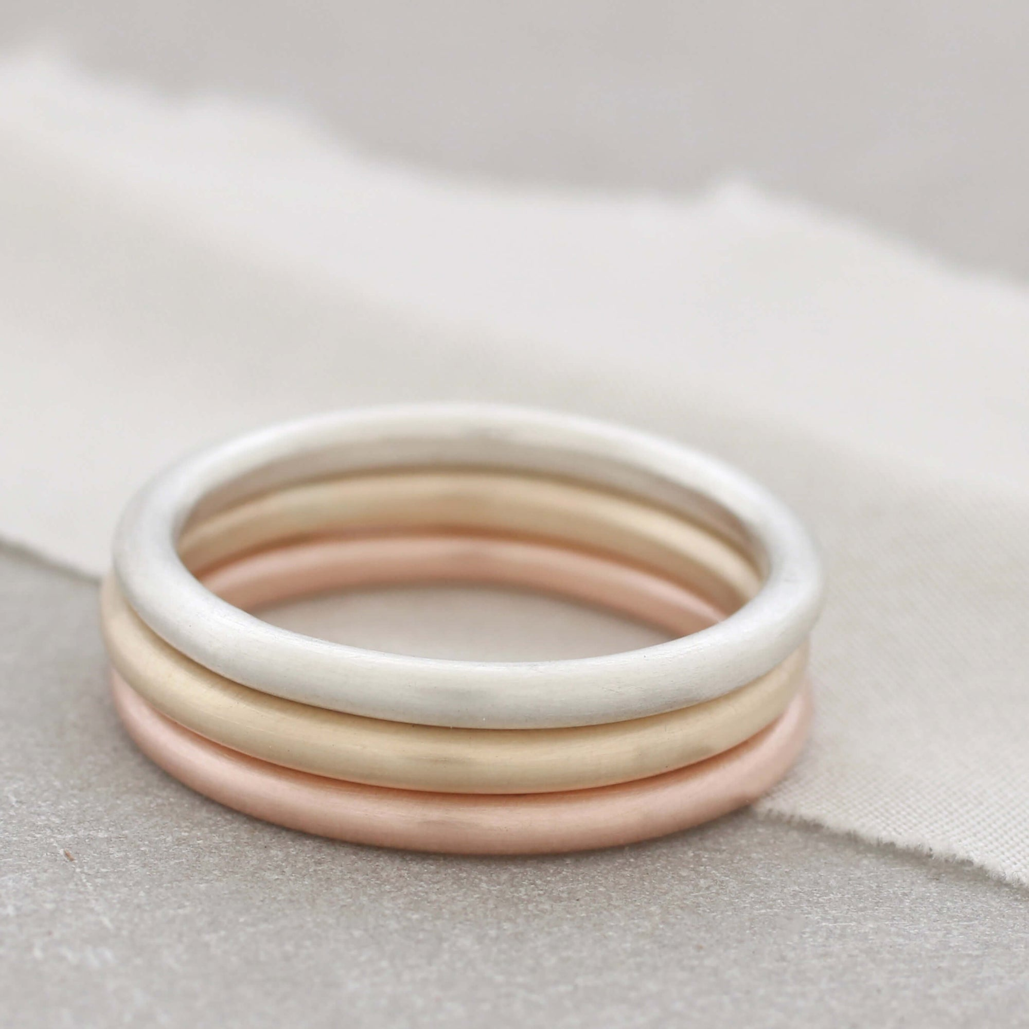 9ct Gold Halo Ring. Stackable Ring Set